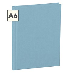Notebook Classic (A6) book linen cover, 144 pages, ruled, ciel