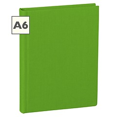 Notebook Classic (A6) book linen cover, 144 pages, ruled, lime