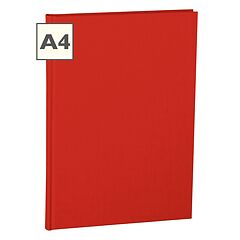 Notebook Classic (A4) book linen cover, 144 pages, ruled, red
