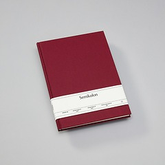 Notebook Classic (A4) book linen cover, 144 pages, ruled, burgundy