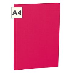 Notebook Classic (A4) book linen cover, 144 pages, ruled, pink