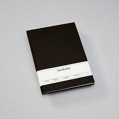 Notebook Classic (A4) book linen cover, 144 pages, ruled, black