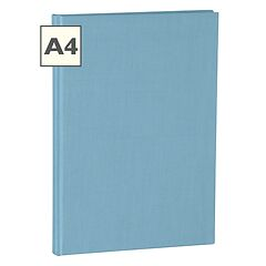 Notebook Classic (A4) book linen cover, 144 pages, ruled, ciel
