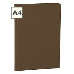 Notebook Classic (A4) book linen cover, 144 pages, ruled, brown
