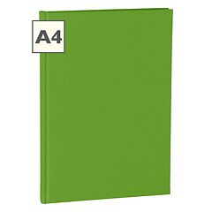 Notebook Classic (A4) book linen cover, 144 pages, ruled, lime