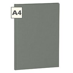 Notebook Classic (A4) book linen cover, 144 pages, ruled, grey