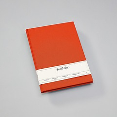 Notebook Classic (A4) book linen cover, 144 pages, ruled, orange