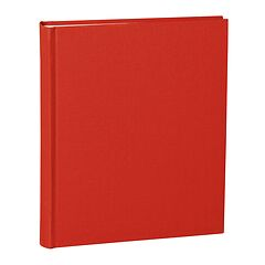 Album Medium, linen cover, 80 pages, cream mounting board, glassine paper, red
