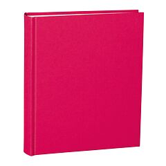 Album Medium, linen cover, 80 pages, cream mounting board, glassine paper, pink