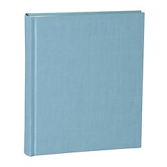 Album Medium, linen cover, 80 pages, cream mounting board, glassine paper, ciel