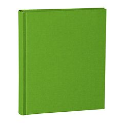 Album Medium, linen cover, 80 pages, cream mounting board, glassine paper, lime