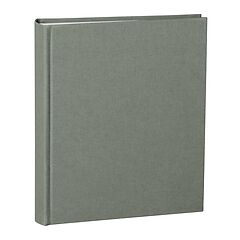 Album Medium, linen cover, 80 pages, cream mounting board, glassine paper, grey