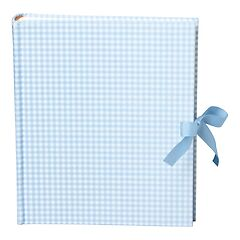 Album Medium, linen cover, 80 pages, cream mounting board, glassine paper, Vichy blue