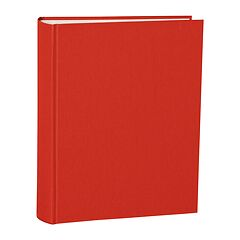 Album Large, linen cover, 130 pages, cream mounting board, glassine paper, red
