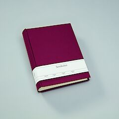Album Large, linen cover, 130 pages, cream mounting board, glassine paper, burgundy
