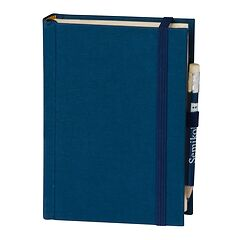 Travel Diary Petit Voyage, 272 pages of laid paper, plain, marine
