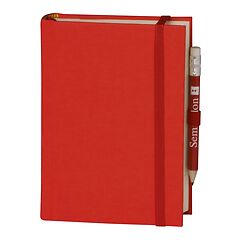 Travel Diary Petit Voyage, 272 pages of laid paper, plain, red