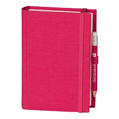 Travel Diary Petit Voyage, 272 pages of laid paper, plain, pink