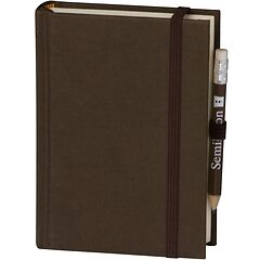 Travel Diary Petit Voyage, 272 pages of laid paper, plain, brown