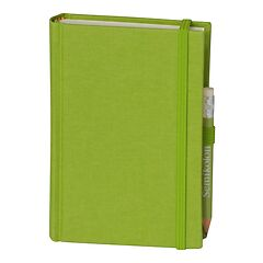 Travel Diary Petit Voyage, 272 pages of laid paper, plain, lime