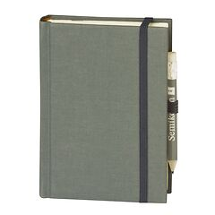 Travel Diary Petit Voyage, 272 pages of laid paper, plain, grey