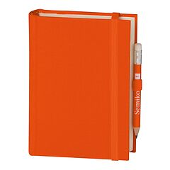 Travel Diary Petit Voyage, 272 pages of laid paper, plain, orange