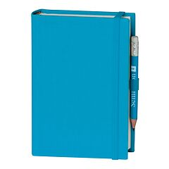 Travel Diary Petit Voyage, 272 pages of laid paper, plain, turquoise
