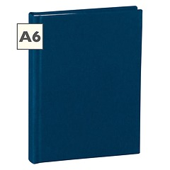 Notebook Classic (A6) book linen cover, 144 pages, plain, marine