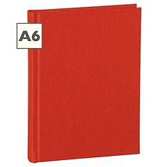 Notebook Classic (A6) book linen cover, 144 pages, plain, red