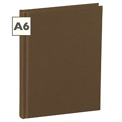 Notebook Classic (A6) book linen cover, 144 pages, plain, brown