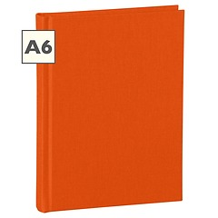 Notebook Classic (A6) book linen cover, 144 pages, plain, orange