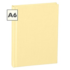 Notebook Classic (A6) book linen cover, 144 pages, plain, chamois