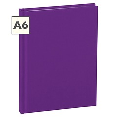 Notebook Classic (A6) book linen cover, 144 pages, plain, plum