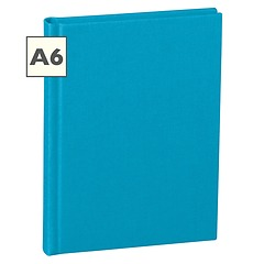 Notebook Classic (A6) book linen cover, 144 pages, plain, turquoise