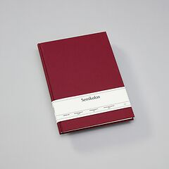 Notebook Classic (A4) book linen cover, 160 pages, plain, burgundy