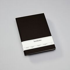 Notebook Classic (A4) book linen cover, 160 pages, plain, black