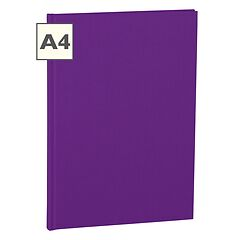 Notebook Classic (A4) book linen cover, 160 pages, plain, plum