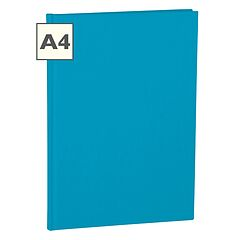 Notebook Classic (A4) book linen cover, 160 pages, plain, turquoise