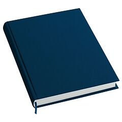 Notebook History Classic (A4) book linen cover, 160 pages, plain, marine