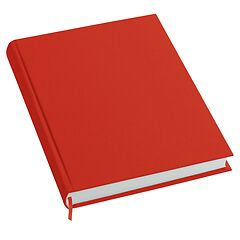 Notebook History Classic (A4) book linen cover, 160 pages, plain, red