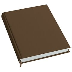 Notebook History Classic (A4) book linen cover, 160 pages, plain, brown
