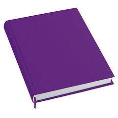 Notebook History Classic (A4) book linen cover, 160 pages, plain, plum