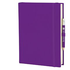 Travel Diary Grand Voyage, 304 pages laid paper, plain, plum