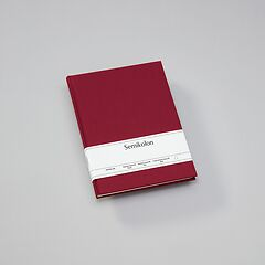 Notebook Classic (B5) book linen cover, 160 pages, plain, burgundy