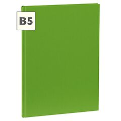 Notebook Classic (B5) book linen cover, 160 pages, plain, lime