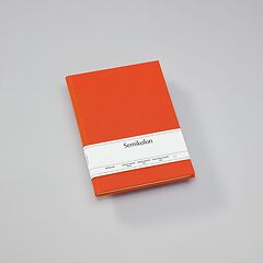 Notebook Classic (B5) book linen cover, 160 pages, plain, orange