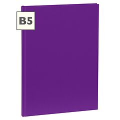 Notebook Classic (B5) book linen cover, 160 pages, plain, plum