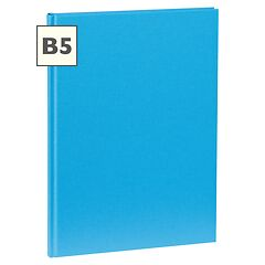 Notebook Classic (B5) book linen cover, 160 pages, plain, turquoise