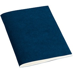 Filigrane Journal A6 with laid paper, 64 pages, plain, marine