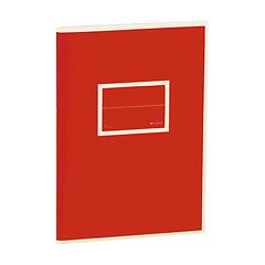 Exercise Book (A5) with a Tag to personalize, ruled, red